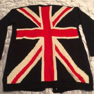 Forever 21 British Flag Cardigan